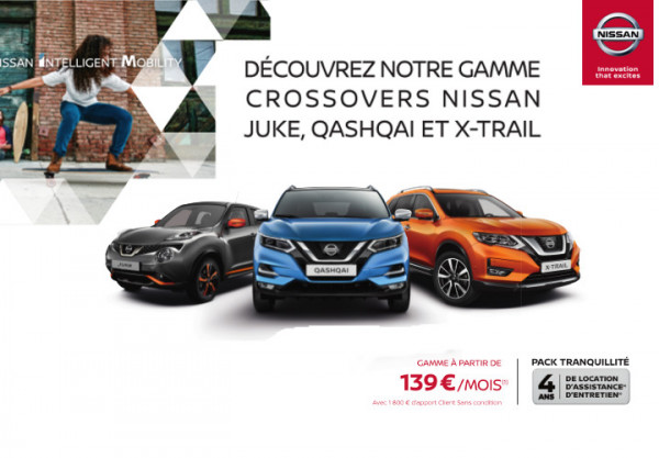 Les Crossovers NISSAN - Concession NISSAN Muret